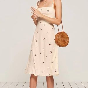Reformation Afternoon Cherry Dress